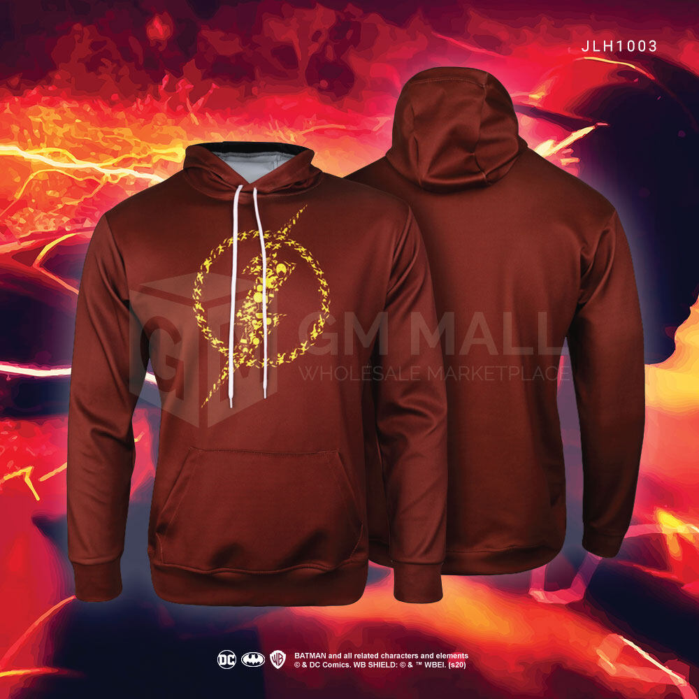 FLASH DC JUSTICE LEAGUE Sweater Hoodies - UNISEX Casual Long Sleeve Jacket Sports Gym Jogging Running Training Hooded Tops [JLH1003]