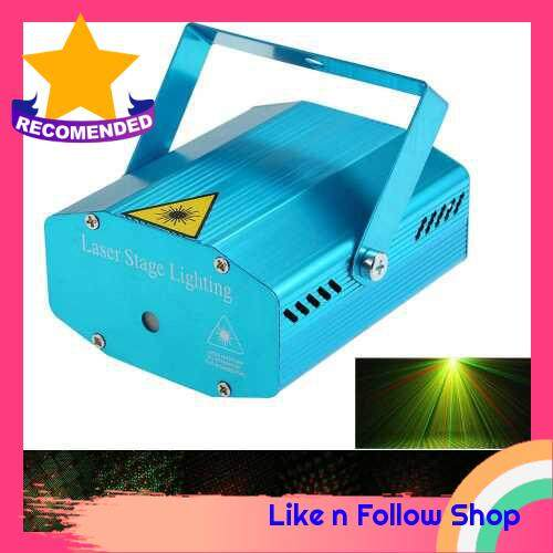 Mini LED Laser Projector Red & Green Stage Lighting Effect Patterns with Tripod (Eu)