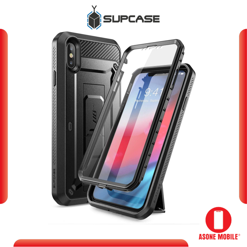 Original SUPCASE Unicorn Beetle Pro iPhone XS Max / XS / XR Full-Body Rugged Holster Case with Built-In Screen Protector kickstand