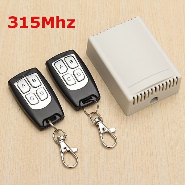 Tyres & Wheels - 12V 4CH 200M WIRELESS Remote Control Relay Switch 2 Transceiver with 1 Receiver - Car Replacement Parts