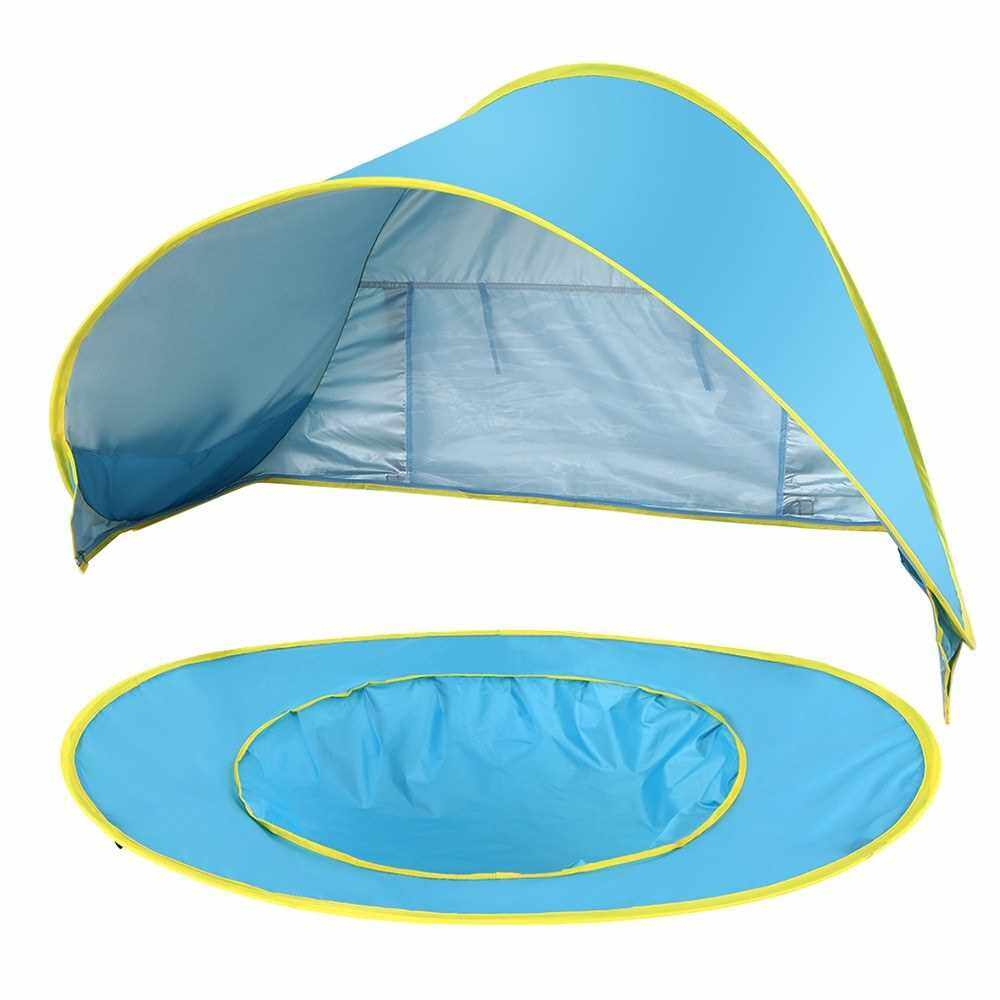 People's Choice Pop Up Baby Beach Tent Waterproof Anti-UV Sun Shelter with Pool Kids Outdoor Sun Shade Awning Tent (Standard)