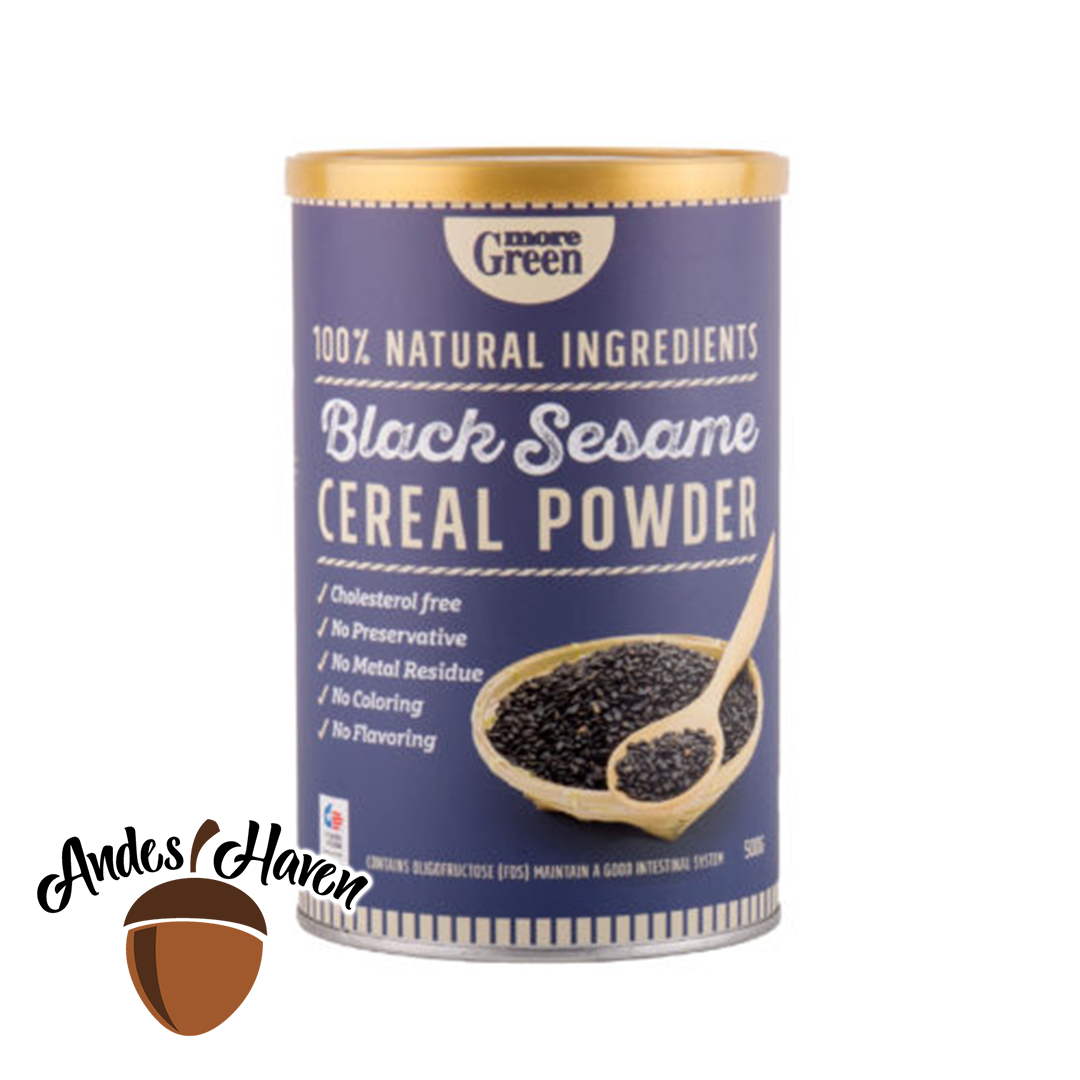 【More Green】Black Sesame Cereal - 500g