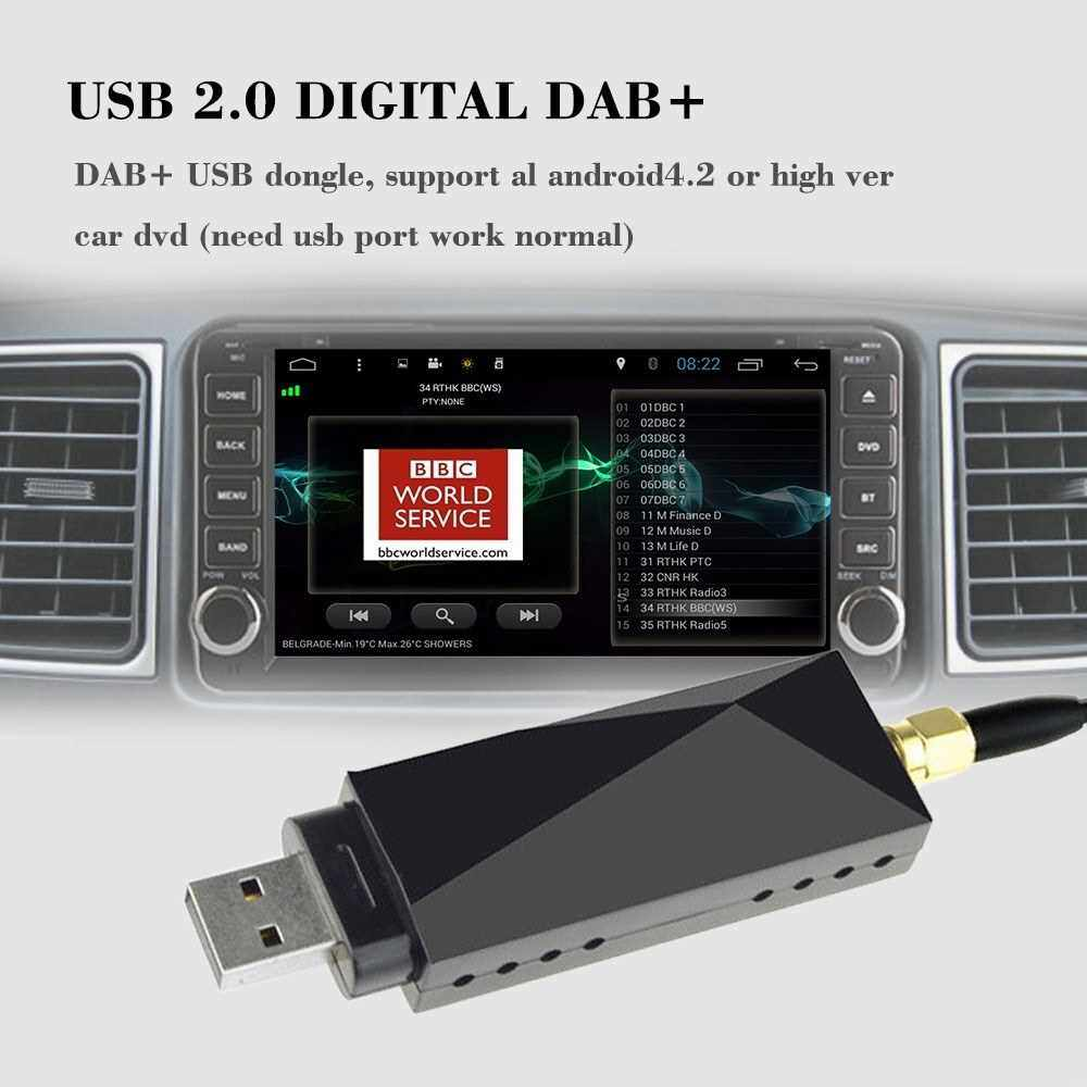 DAB Car Radio Tuner Receiver USB Stick DAB Box for Android Car DVD include Antenna USB Dongle Digital Audio Broadcasting (Standard)