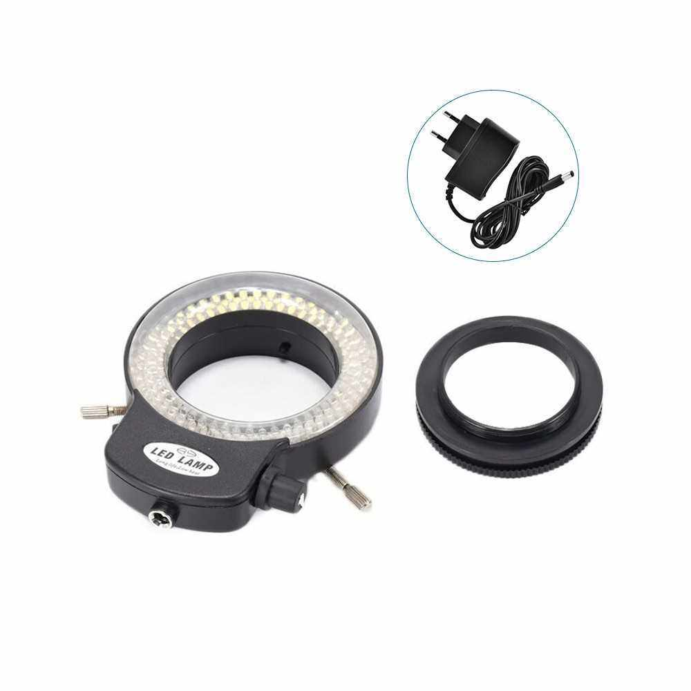 Variable 144 LED Ring Light for Stereo Microscope and Camera Adjustable Illuminator with Dimmer for Stereoscopic Microscope (Eu)