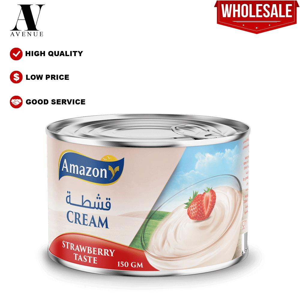 Amazon Cream with Strawberry 150g قشطة أمازون بطعم الفراولة