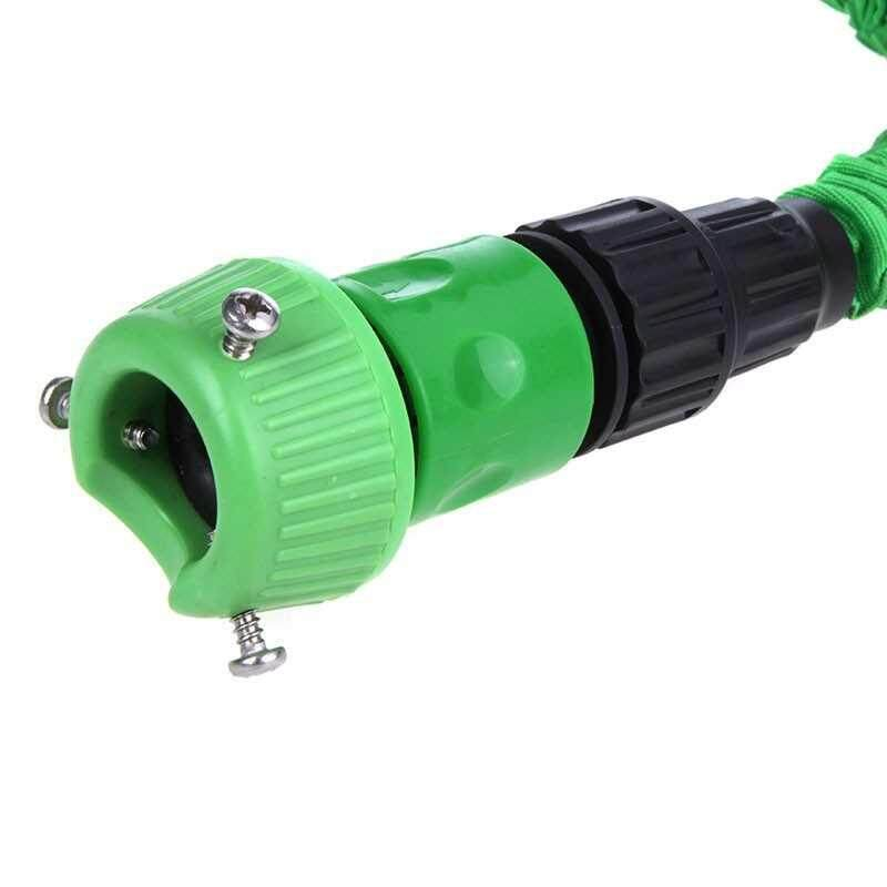 Ultralight Flexible 3X Expandable Garden Magic Water Hose Pipe + Faucet Connector + Fast Connector + Multifunctional Spray Nozzle