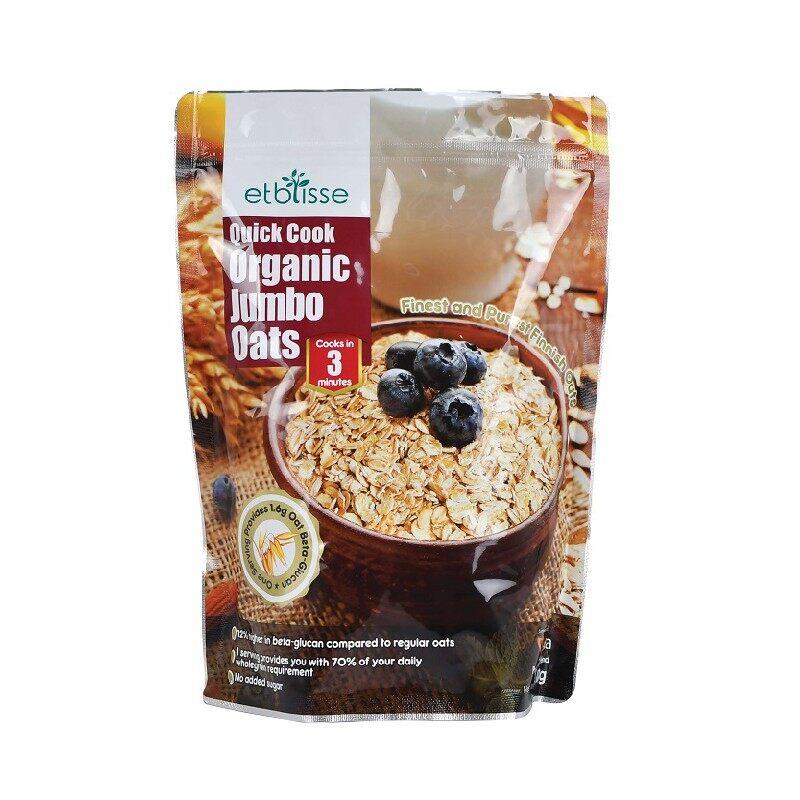 Etblisse Quick Cook Organic Jumbo Oats 500G x2 - TWIN PACK