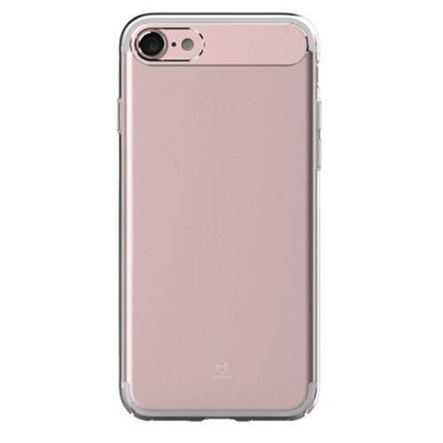 MCDODO PC - 357 SHARP SERIES ULTRA THIN TRANSPARENT ALUMINUM ALLOY + PC PROTECTIVE BACK COVER FOR IPHONE 7 (ROSE GOLD)