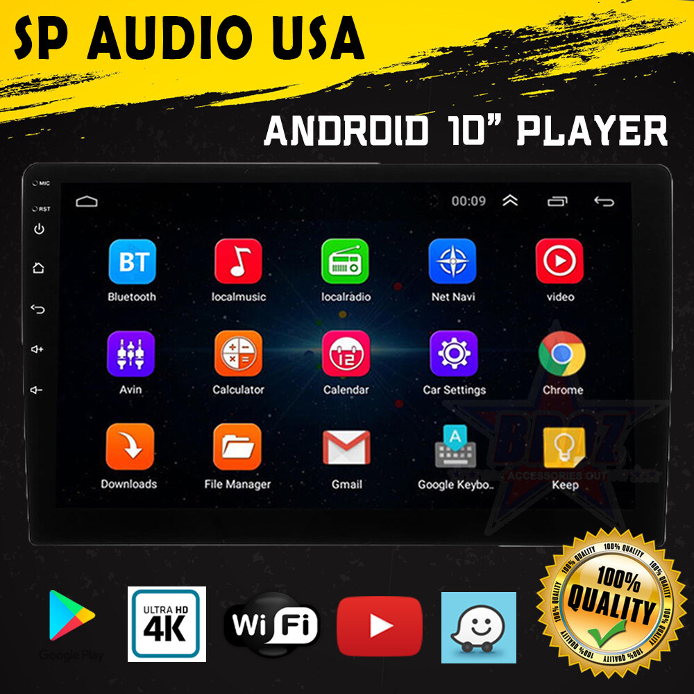 SP Audio USA Android player 9 INCH 10 INCH IPS 2.5D Glass Panel Screen 1GB RAM 16GB