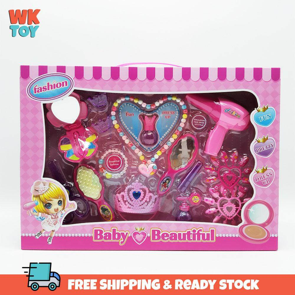WKTOY 13 in 1 Pretend Kids Make Up Gifts Set Toys for Girl