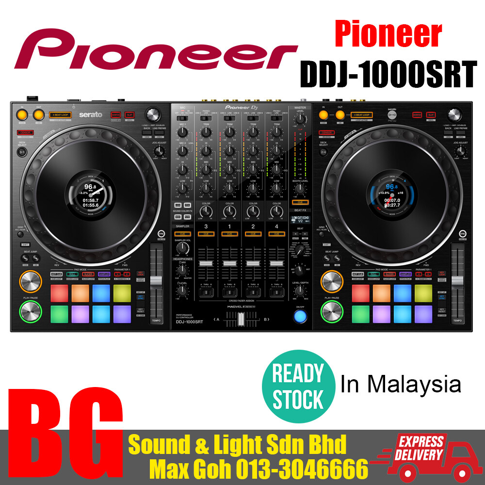[READY STOCK IN MALAYSIA] DDJ-1000SRT Share 4-channel performance DJ controller for Serato DJ Pro