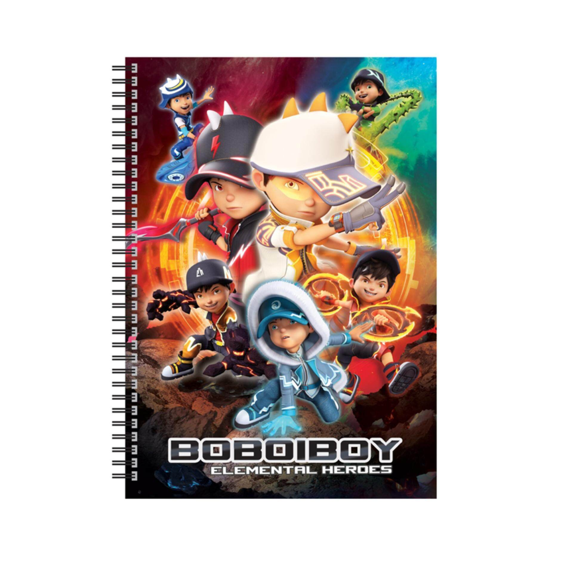 BoBoiBoy Movie 2 A5 80pages Wire O Notebook - Multicolour