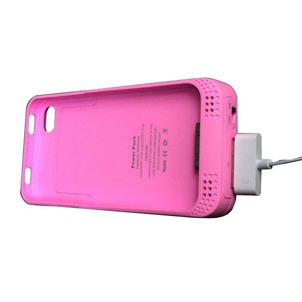 Cool Gadgets - Rechargeable 2000mAh Battery Case For iPh 4 Random Shipment - Mobile & Accessories