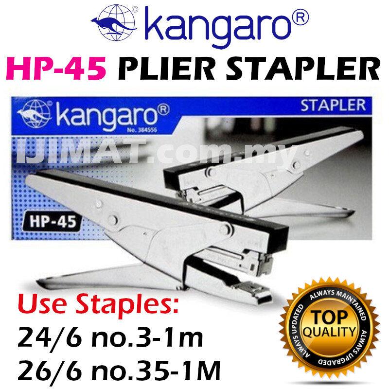KANGARO HP-45 HP45 HP 45 Plier Stapler Use No. 3-1M 24/6 / 35-1m 26/6 staples