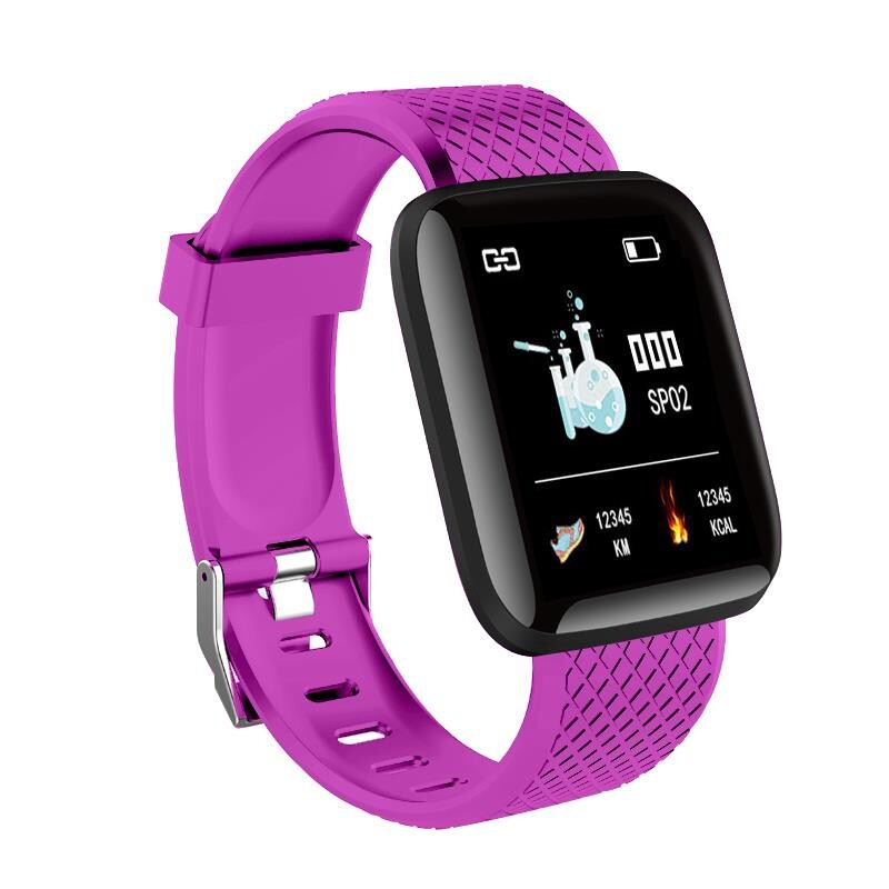Smart Watch - 116 Plus 1.3' Custom Dial Dynamic Oxygen Message Push Smart Watch - GREEN / BLUE / PURPLE / RED / BLACK