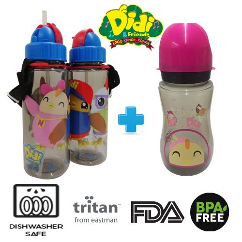 Didi And Friends 500ml Tritan Bottle + 12Oz Nana Milk Bottle