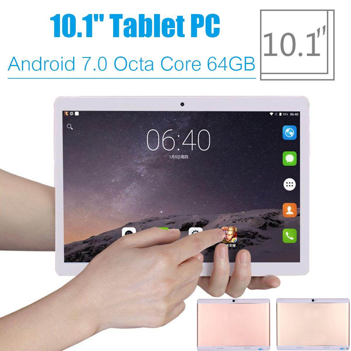 """HOT SALE 10.1"""" 4G+64GB Android 7.0 Tablet PC Octa 8 Core HD WIFI Bluetooth 2 SIM 4G New"""