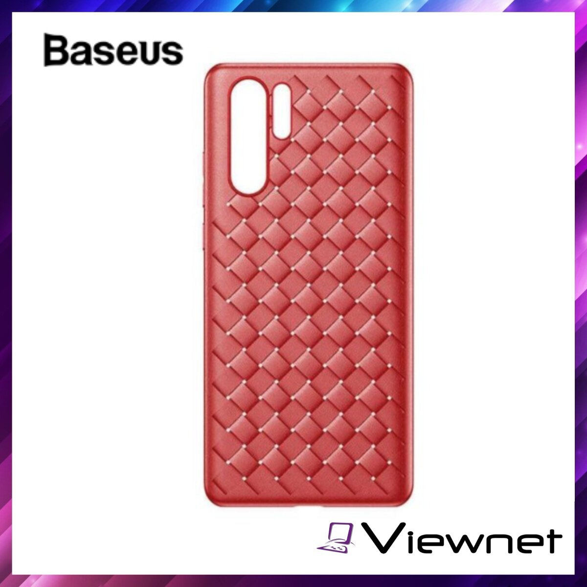 Baseus BV Weaving Case For Huawei P30 Pro, Heat Dssipation, Woven Texture, German Bayer TPU, Extendable and Bendable, Blue / Red