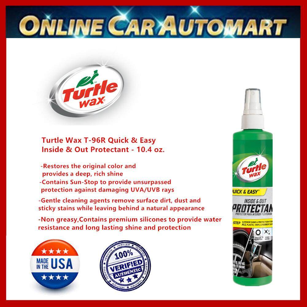 Turtle Wax T-96R Quick & Easy Inside & Out Protectant - 10.4 oz.