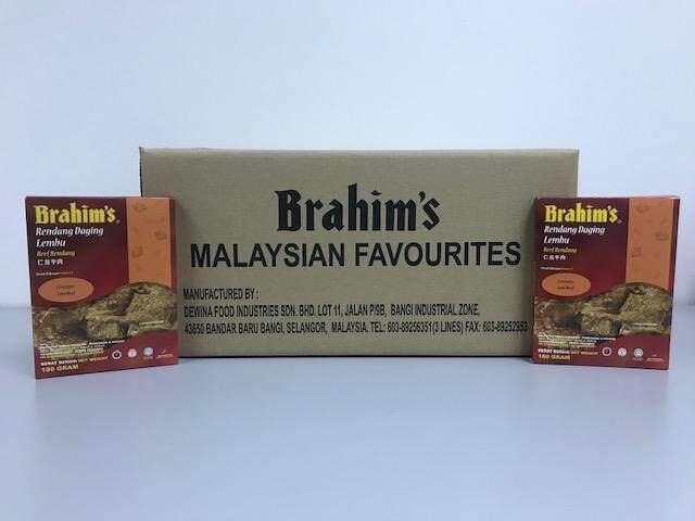 Brahim's Rendang Daging Lembu 1 Karton (Meal Ready To Eat, Beef Rendang)