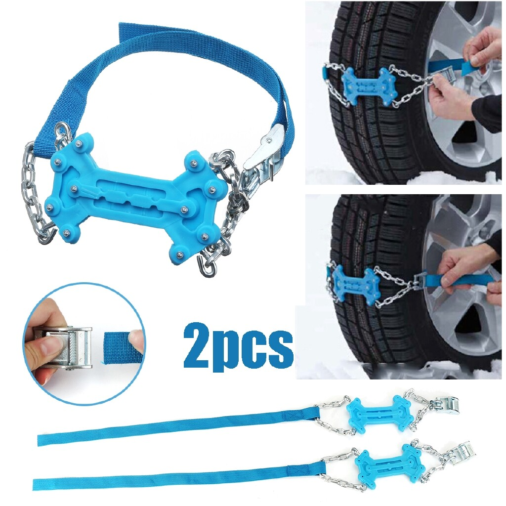 Automotive Tools & Equipment - Universal Anti Skid Winter Tyres wheels Snow Chains Adjustable for car - Car Replacement Parts