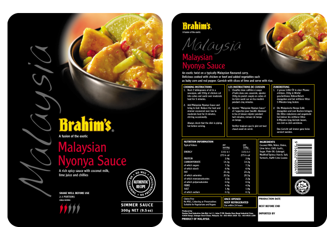 Brahim's Malaysian Nyoya (Black Pouches)