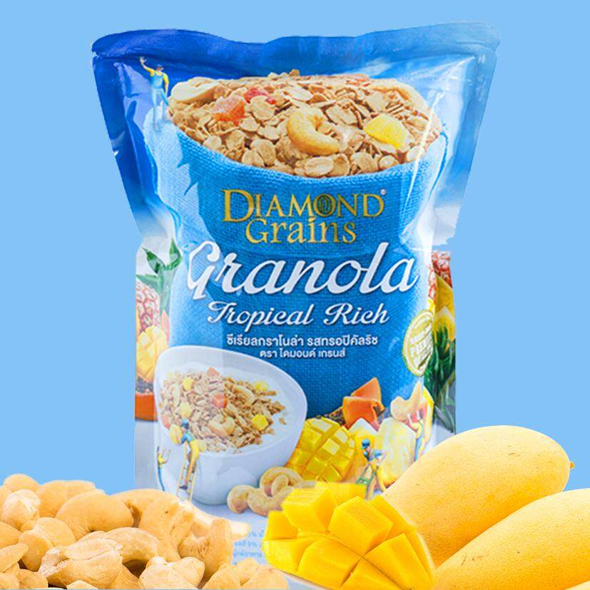 Diamond Grains Granola, Tropical Rich 500g