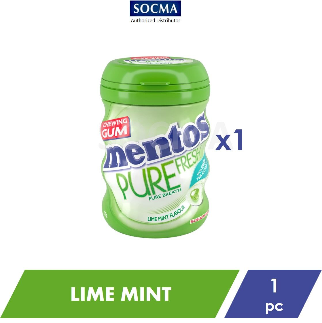 Mentos Pure Fresh French Bottle Lime Mint 57G [1]