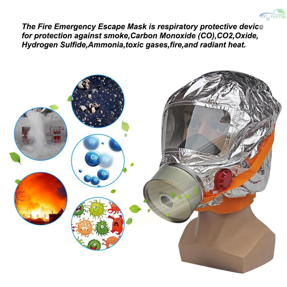 Protective Clothing & Equipment - Fire Mask Emergency Escape Mask 30 minutes Self-life-saving Respirator Gas Mask Smoke Toxic Filter - SILVER-2 / SILVER-1