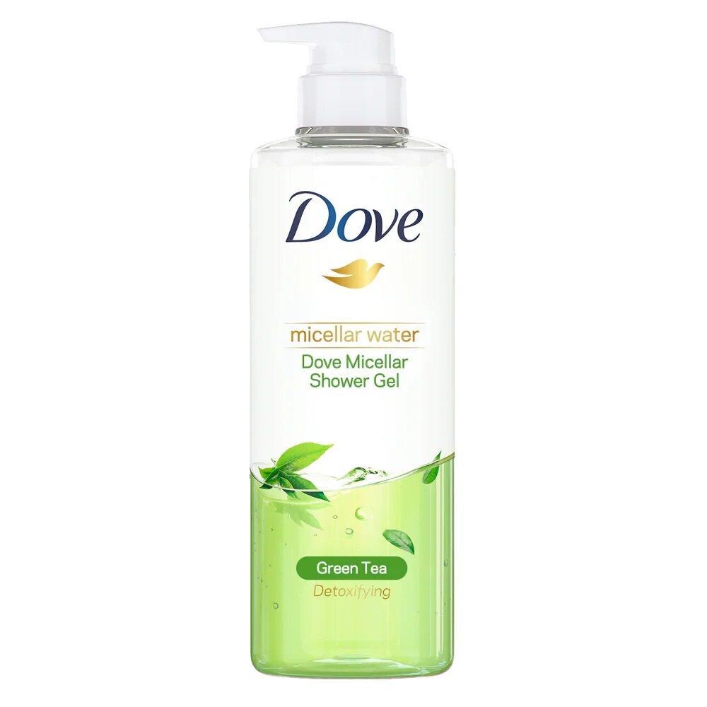 DOVE Micellar Water Detoxifying Shower Gel 500ml - Green Tea