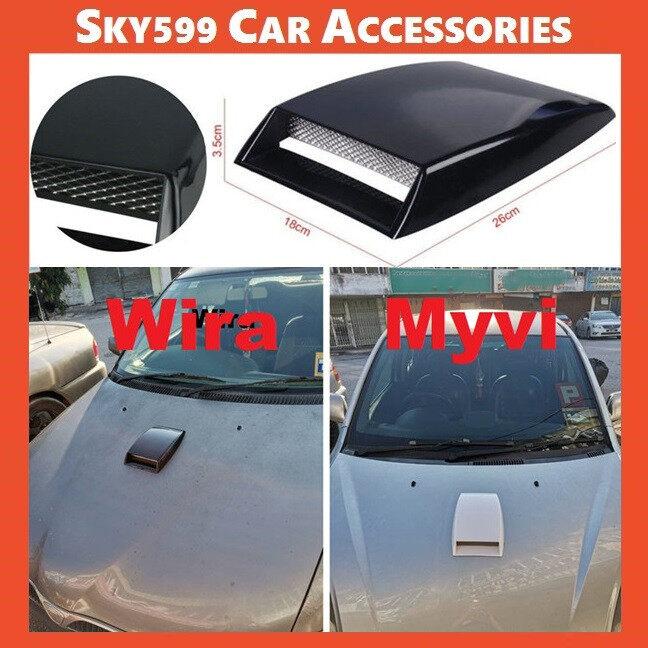 Universal Car Decorative Air Flow Intake Scoop Bonnet Vent Sticker Cover Hood