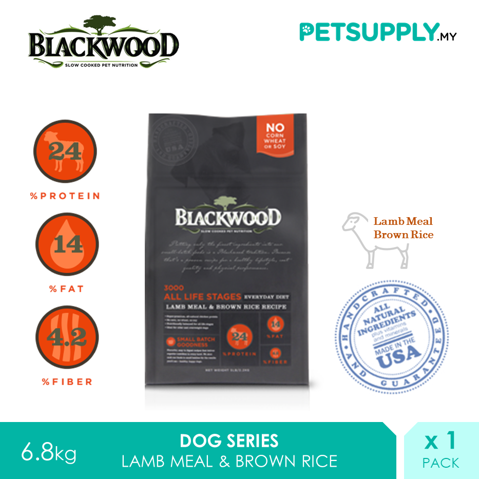 Blackwood 3000 All Life Stages Lamb Meal & Brown Rice Recipe 6.8kg [Dry Dog Food Treat Snack - Petsupply.my]