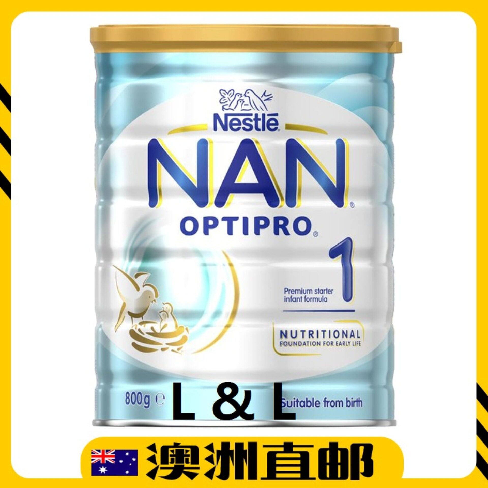 [Pre Order] Australia Import Neslte NAN OPTIPRO Step 1 ( 0 - 6 Months ) 800g Twin Pack
