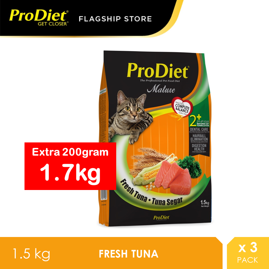 ProDiet 1.5KG Fresh Tuna Dry Cat Food Fresh x 3 Packs [makanan kucing]