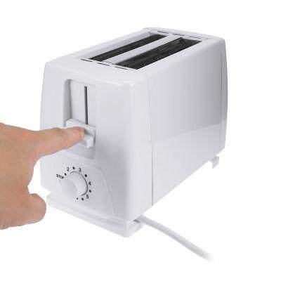 PORTABLE HOUSEHOLD 2 SLICE PLASTIC ELECTRIC BREAD TOASTER (WHITE)