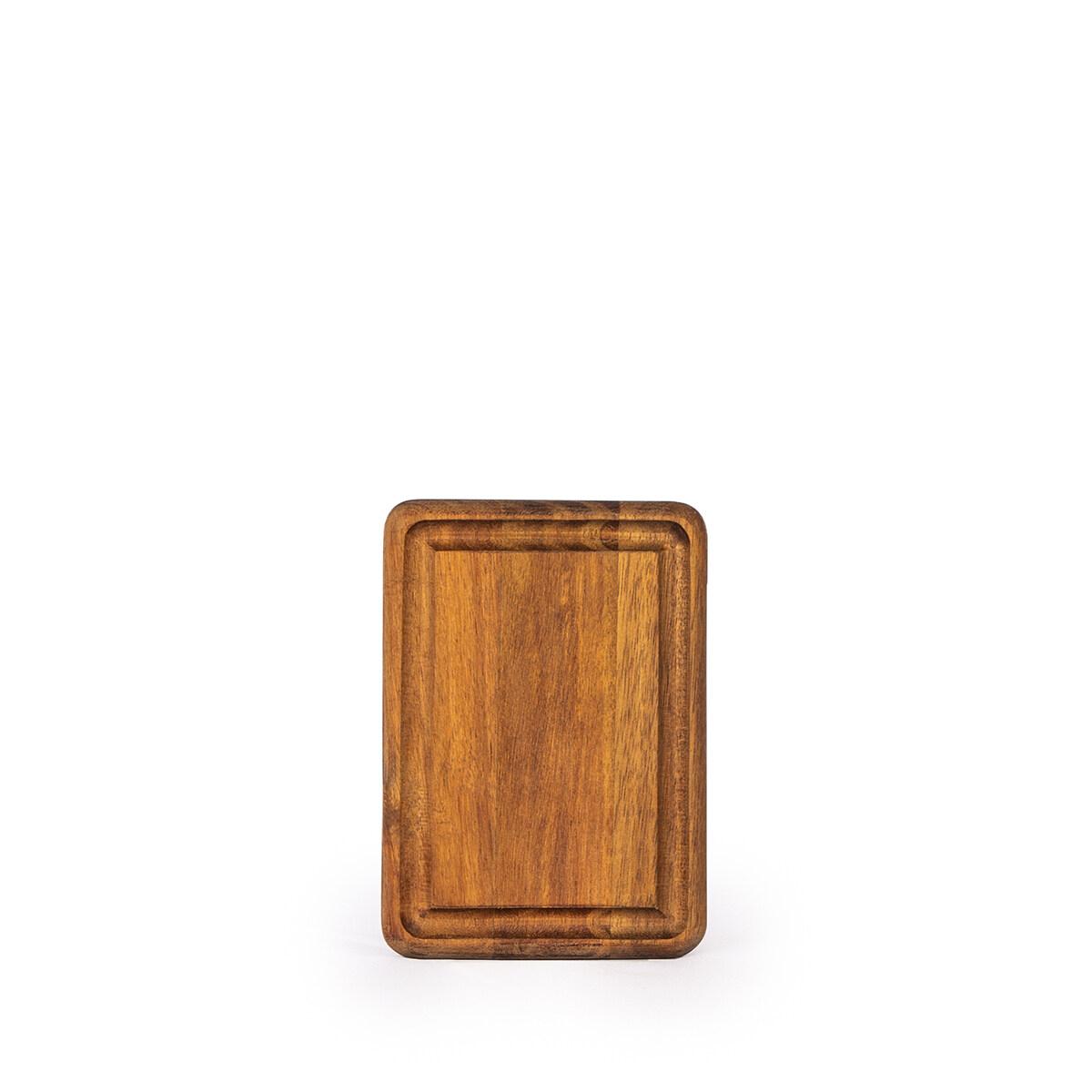 AIDEAS Cutting Board- YUMMY serving / chopping / wood / natural / platter / plate / acacia / dessert / coffee / dinner