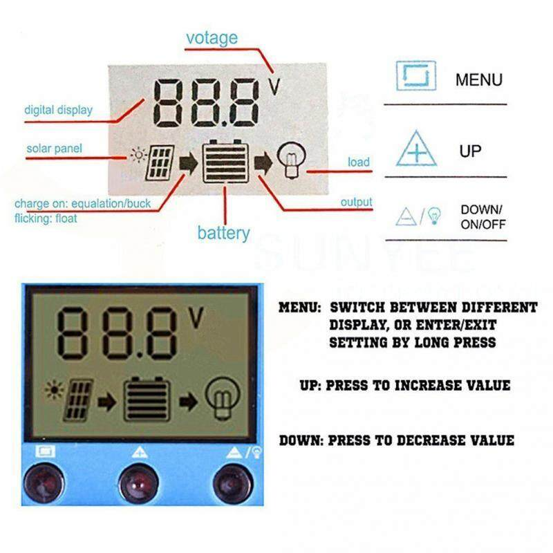 Solar Charge Controller 12v 20A Automatic Solar Panel Controller