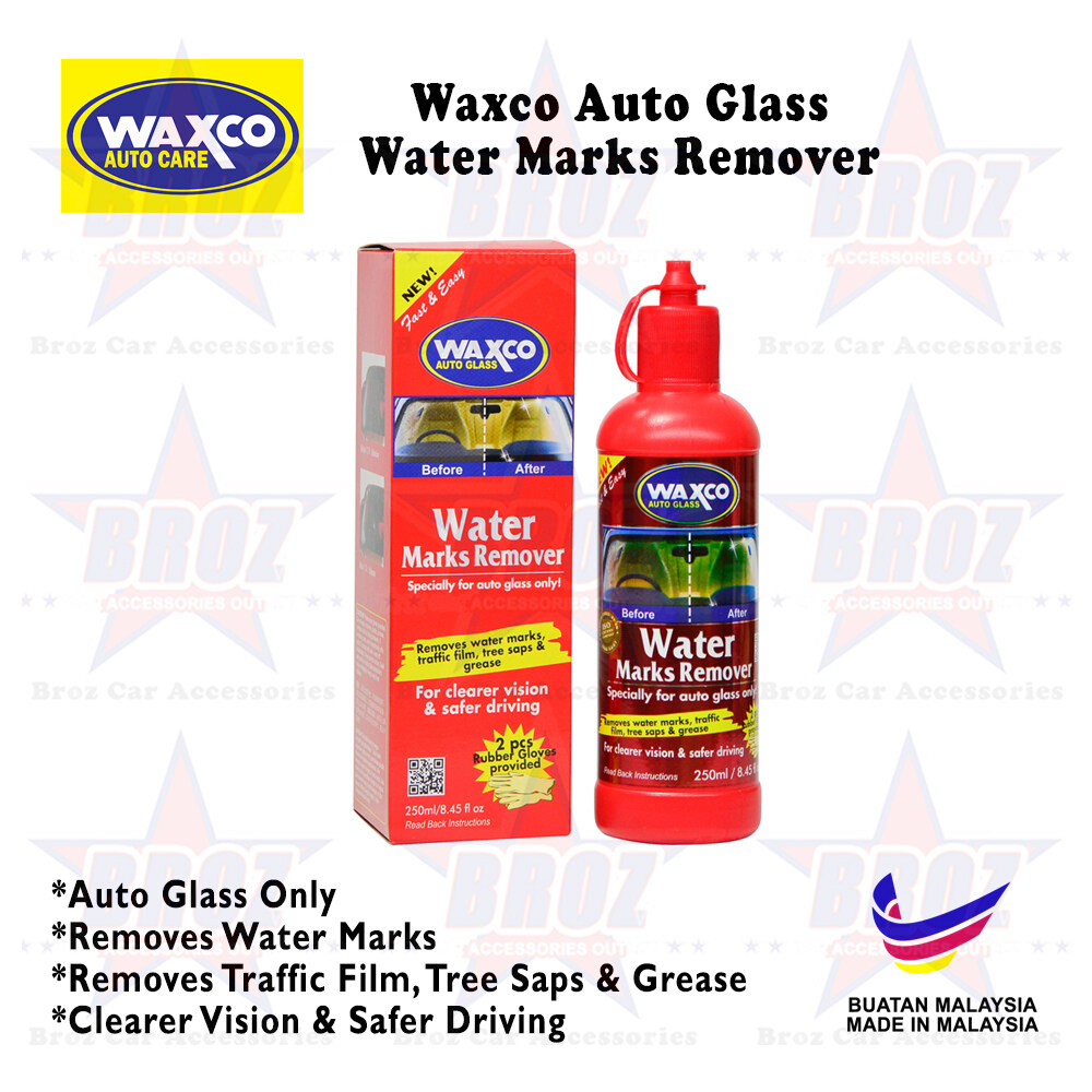 Waxco Water Marks Remover (250ml) + 2pcs Rubber Gloves