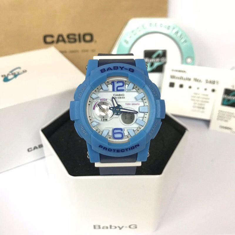 (Ready Stock) Casio_Baby_G_BGA_210 Women Sport Digital Watch Duo W/Time 100M Water Resistant Shockproof and Waterproof World Time LED Light Girl Wist Sports Watches with 1 Year Warranty BGA210/BGA-210