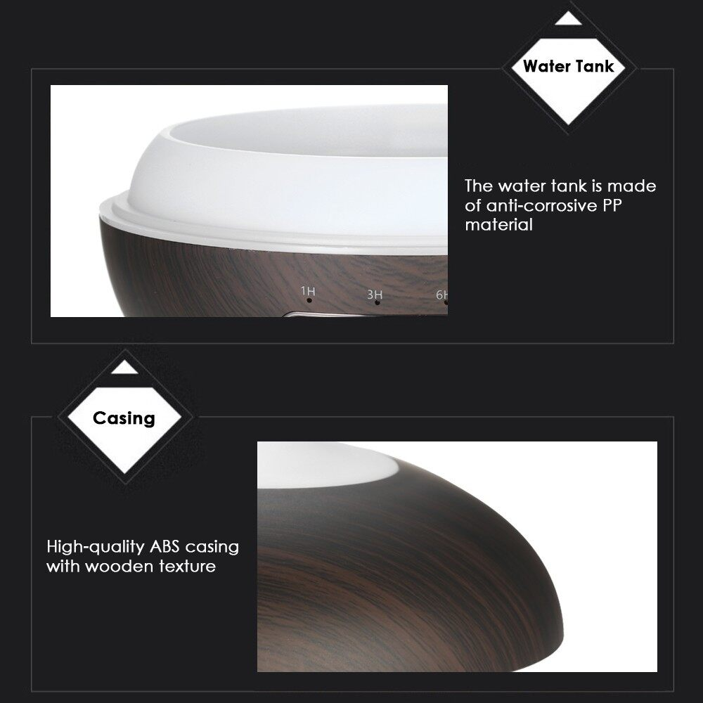Humidifiers & Air Purifiers - AroEssential Oil Diffuser Induction ULTRAsonic Humidifier - BROWN / DARK BROWN
