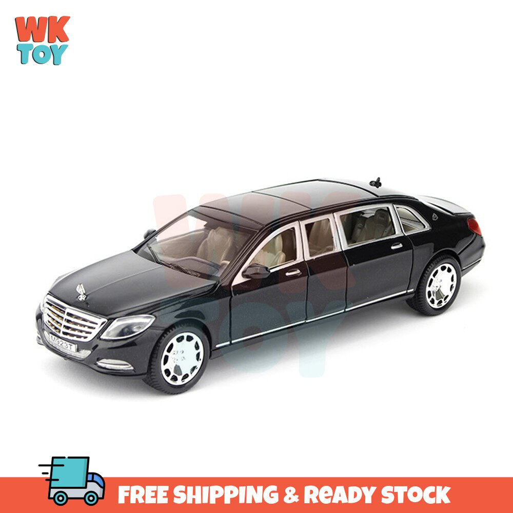 WKTOY XLG Mercedes Maybach High Simulation 1:24 Die Cast Alloy Model with Light & Sound and Pull Back Power