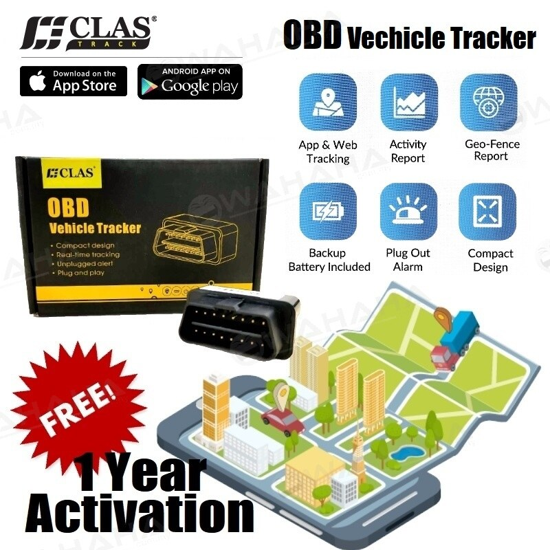 CLAS GPS Tracker Plug and Play OBD GPS Tracker Real Time Tracking Unplugged Alert