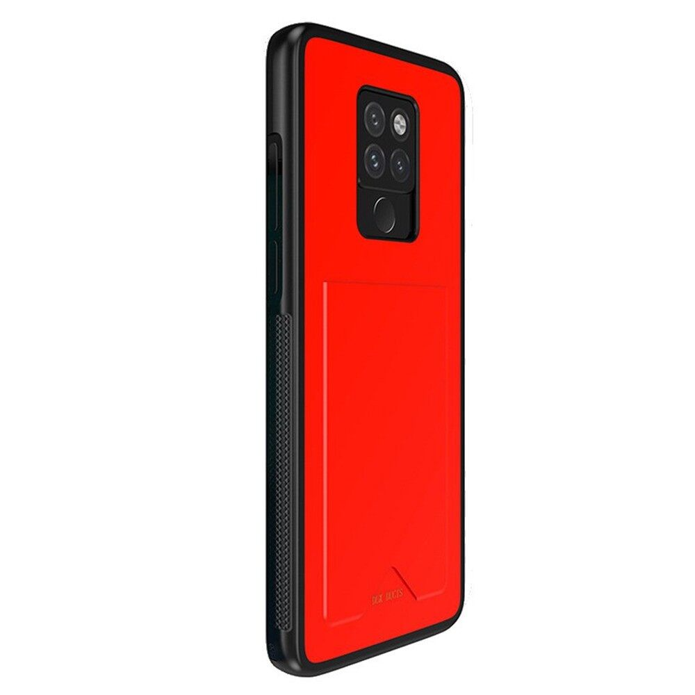 iPh Soft Cover - DUX DUCIS Card Slot Holder Back Cover Protective Case for Huawei Mate 20 - BLACK / RED / WHITE