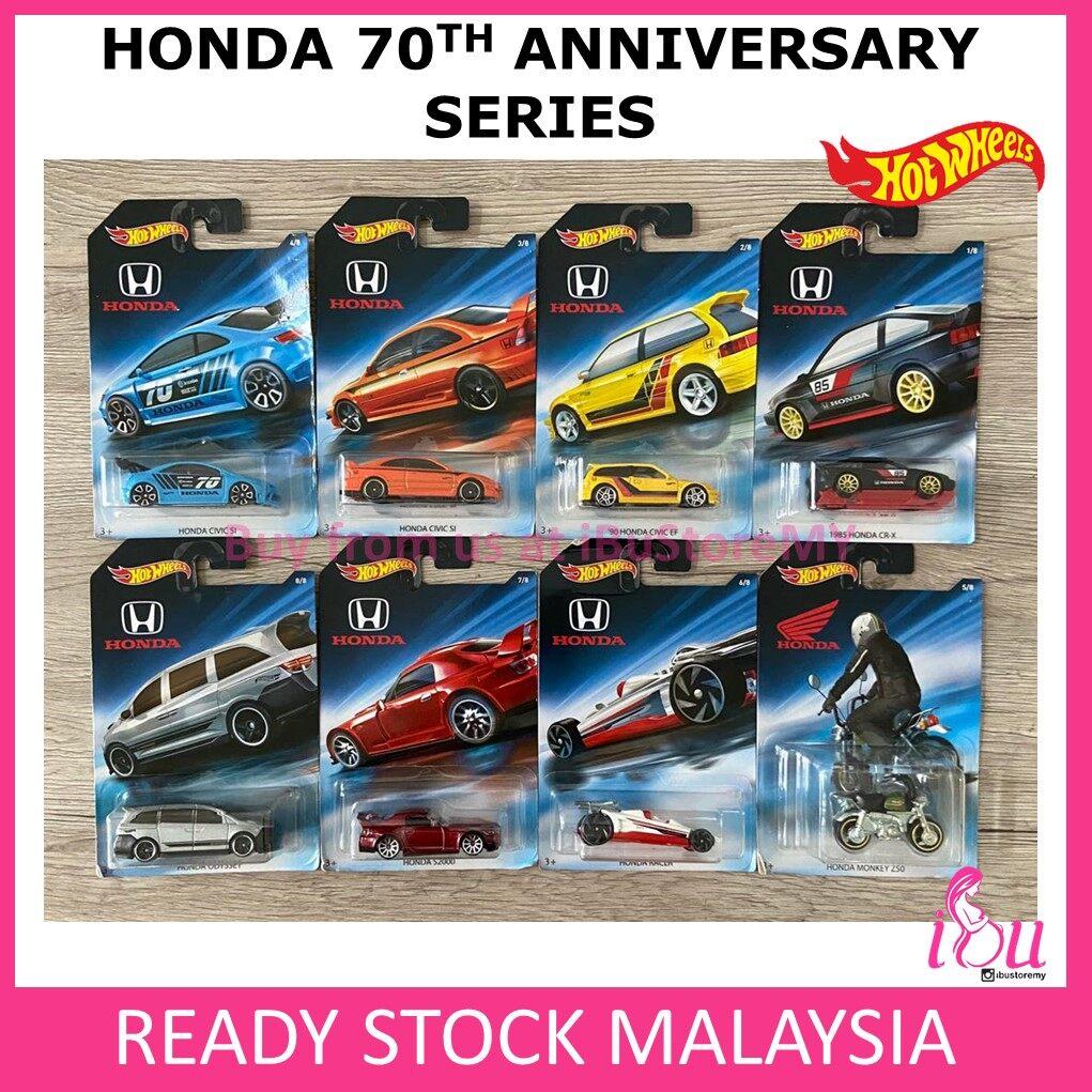 Hot Wheels Honda 70th Anniversary Series Set of 8 Hotwheels
