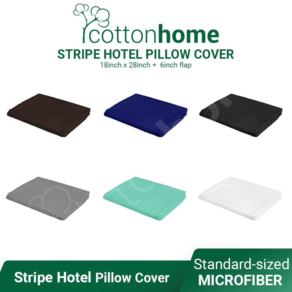 Stripe Hotel Pillow Cover 1pc - Standard Size - Ready Stock - High Quality Soft