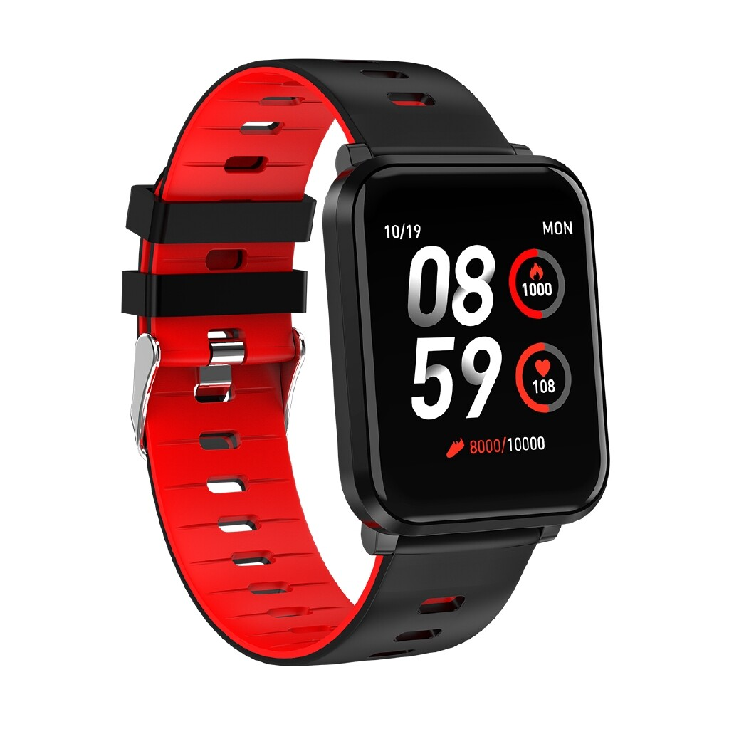 Smart Watch - K10 ULTRA-thin Design Detachable Strap IP68 Sports Mode BLUETOOTH - GREY / YELLOW / BLACK / RED
