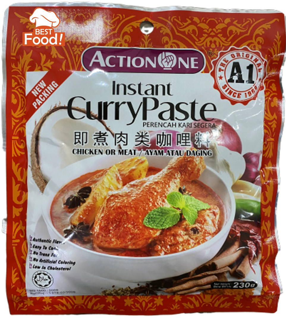 (2 PKTS HALAL) - Action One Instant Curry Chicken Paste