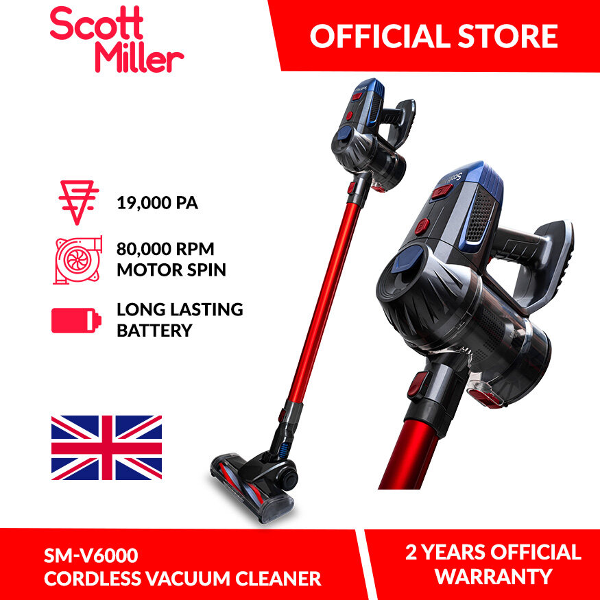 Scott Miller Cordless Vacuum Cleaner SM-V6000 with Motorised Dust Mite Brush