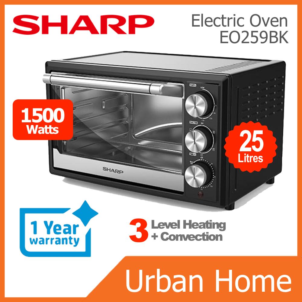 SHARP 25L Convection Multi Function Electric Oven (EO259BK/EO-259-BK)