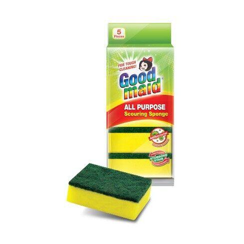 Good Maid All Purpose Scouring Sponge (5pcs) Antibacterial Resists Odours